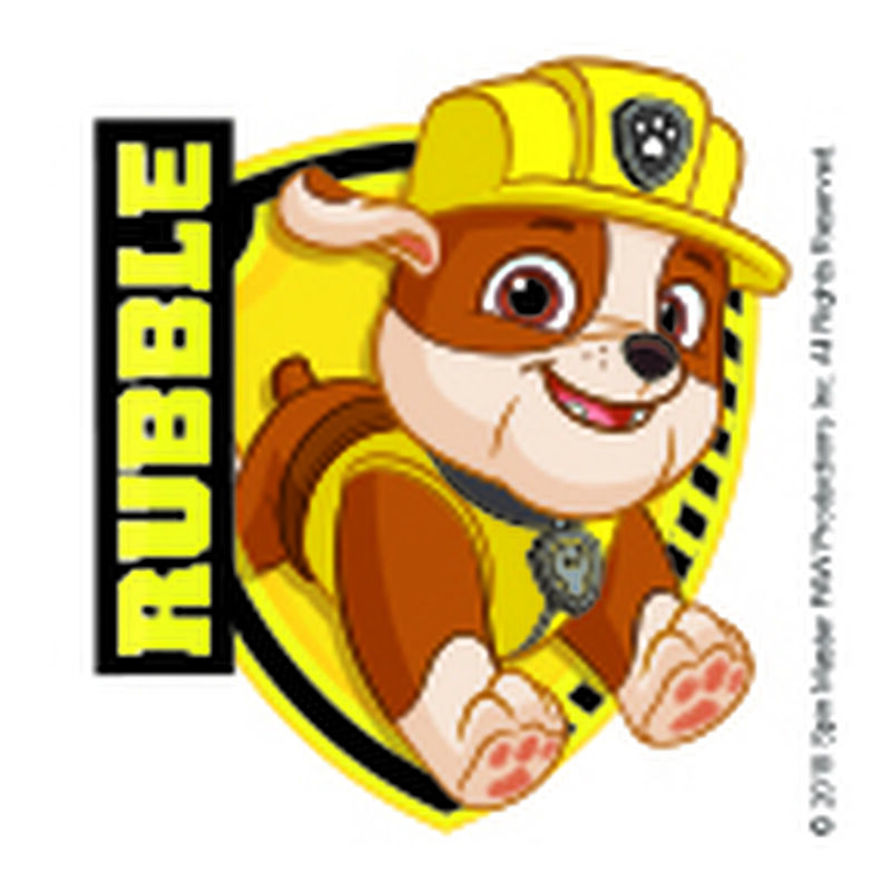 PAW Patrol Rubble Badge Temporary Tattoo image number null