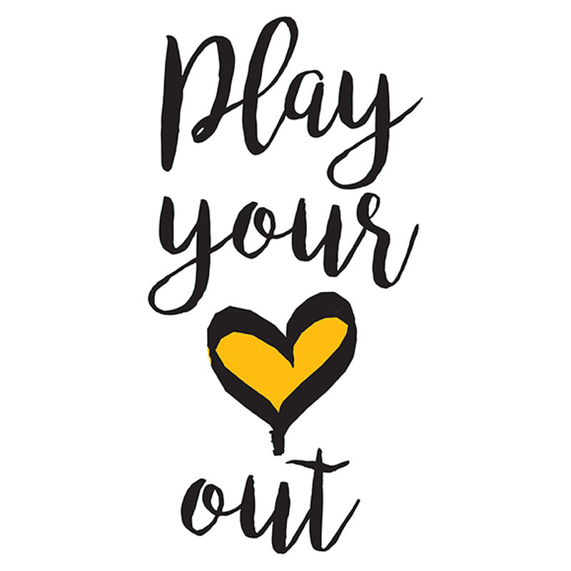 Play Your Heart Out Temporary Tattoo image number null