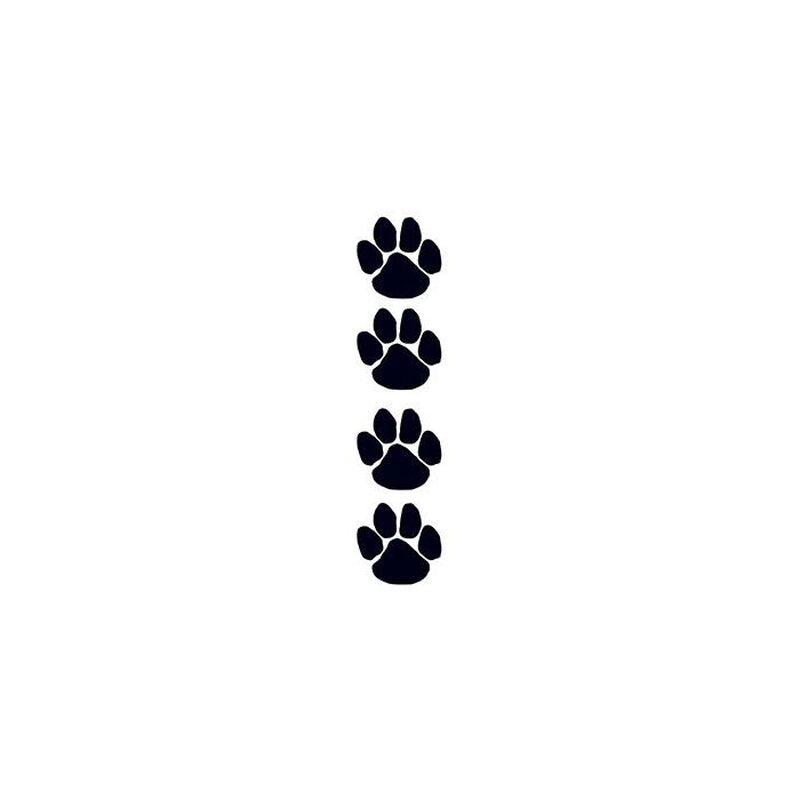 Black Paw Prints Fundraiser Temporary Tattoos image number null