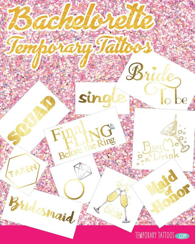 Bachelorette Party Temporary Tattoo Pack image number null