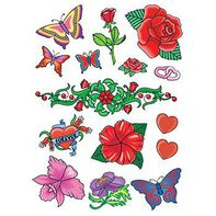 Springtime Romance Set of Temporary Tattoos