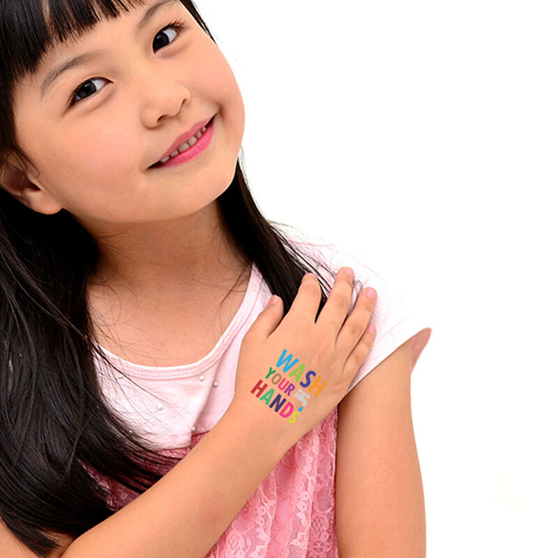 Wash Your Hands Temporary Tattoo image number null