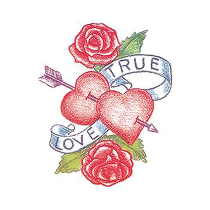 True Love Heart Temporary Tattoo image number null