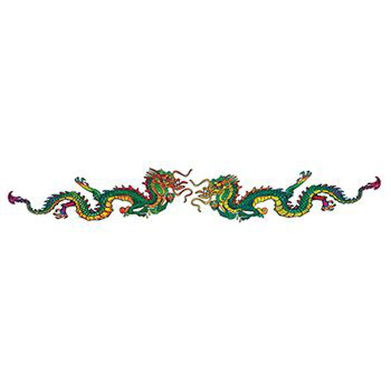 Chinese Dragons Band Temporary Tattoo image number null