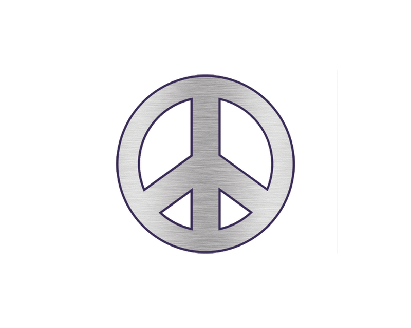 Metallic Peace Sign Temporary Tattoo image number null
