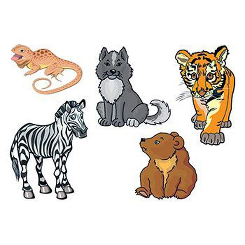 Baby Animals Temporary Tattoo image number null