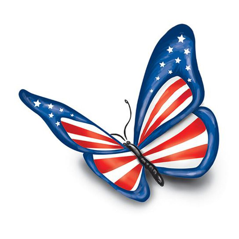 Patriotic Butterfly Temporary Tattoo image number null