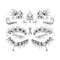 Day of the Dead Lace Temporary Tattoo