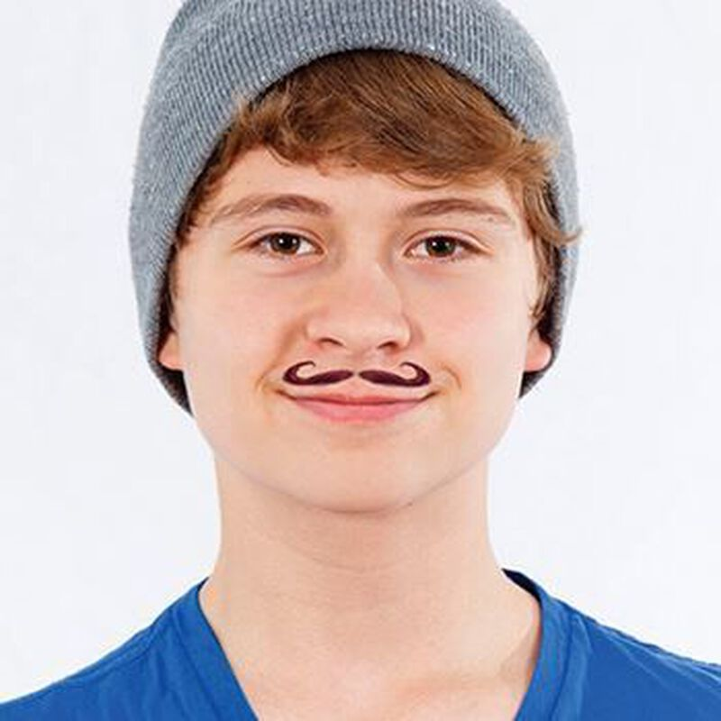 I Mustache You a Question Temporary Tattoo image number null