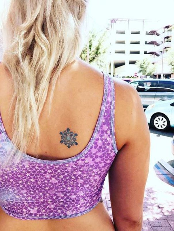 Glitter Snowflake Temporary Tattoo image number null