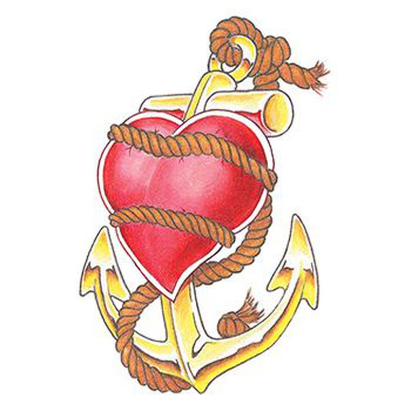 Heart and Anchor Temporary Tattoo image number null