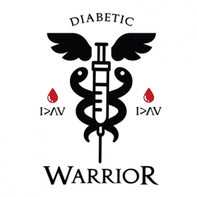 Type 1 Diabetic Warrior Temporary Tattoo
