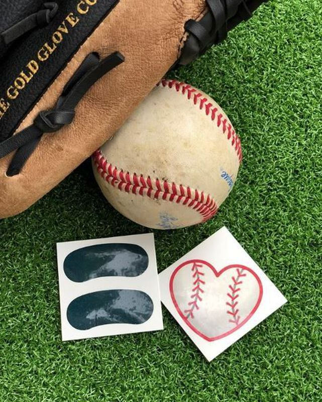 Baseball Heart Temporary Tattoo image number null