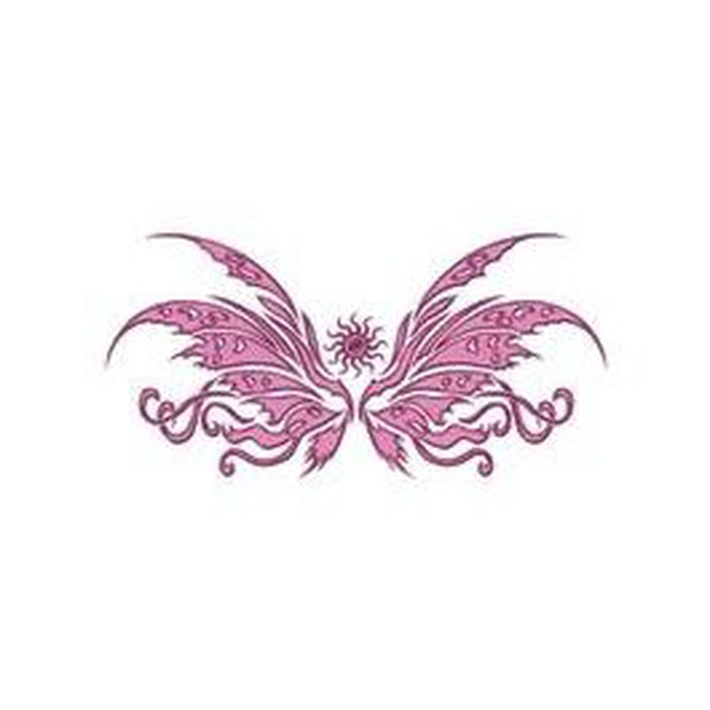Pink Tribal Butterfly Temporary Tattoo image number null