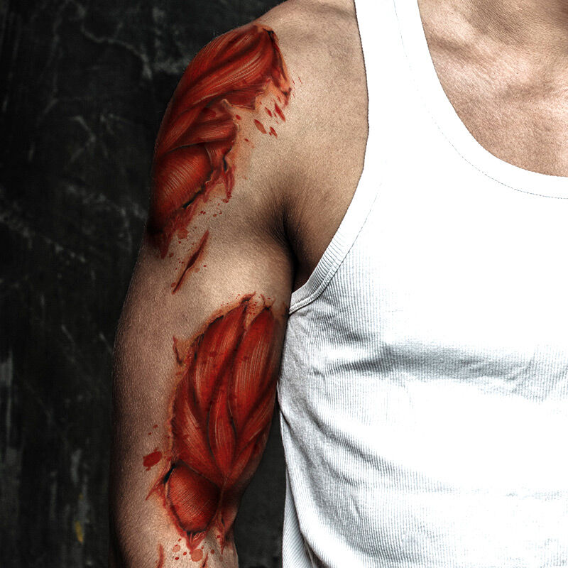 Exposed Muscle Costume Tattoo image number null