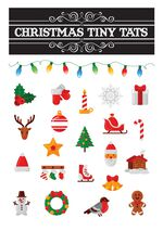 Christmas Tiny Tats Temporary Tattoos