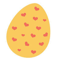 Hearts Easter Egg Temporary Tattoo