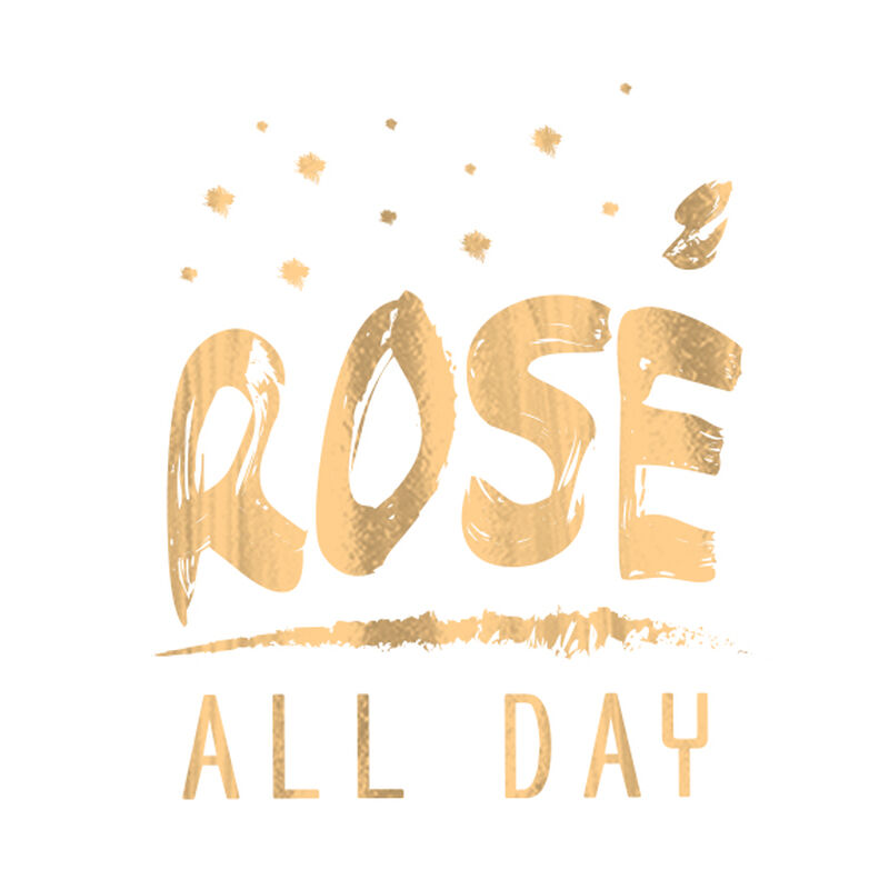 Metallic Rosé All Day Temporary Tattoo image number null