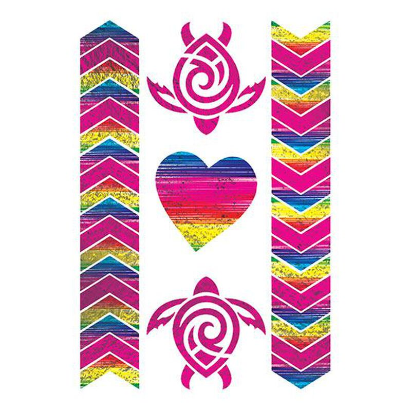 Tropical Gradient Metallic Temporary Tattoo image number null