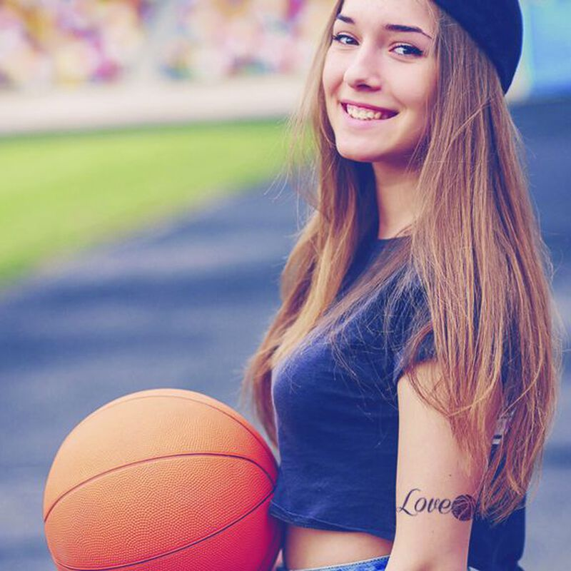 Love Basketball Temporary Tattoo image number null
