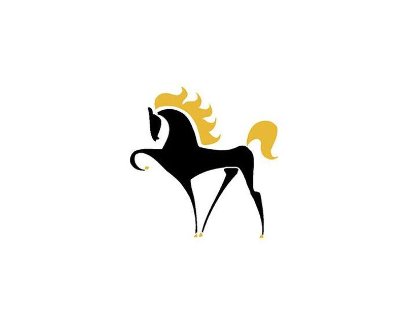 Black Horse Temporary Tattoo image number null