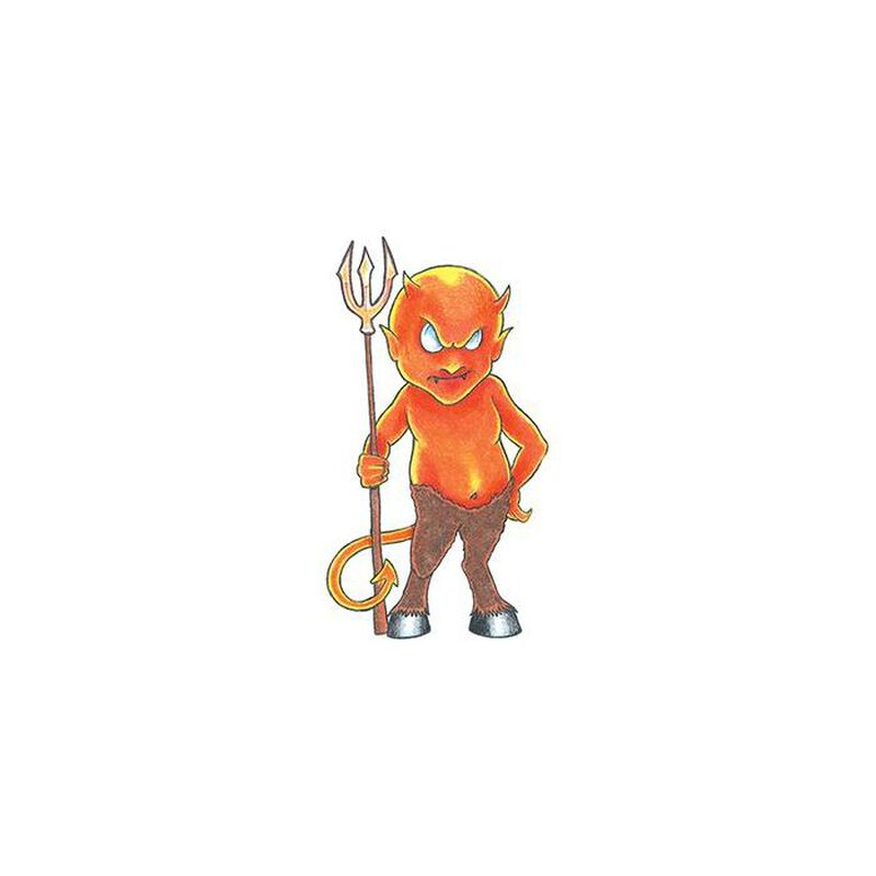 Traditional Little Devil Temporary Tattoo image number null