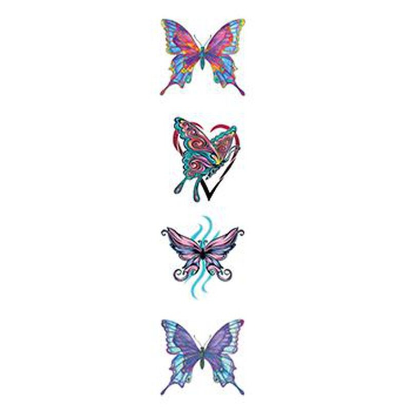 Various Butterflies Temporary Tattoo Set image number null