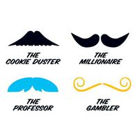 Fingerstaches: The Cookie Duster Temporary Tattoo Set