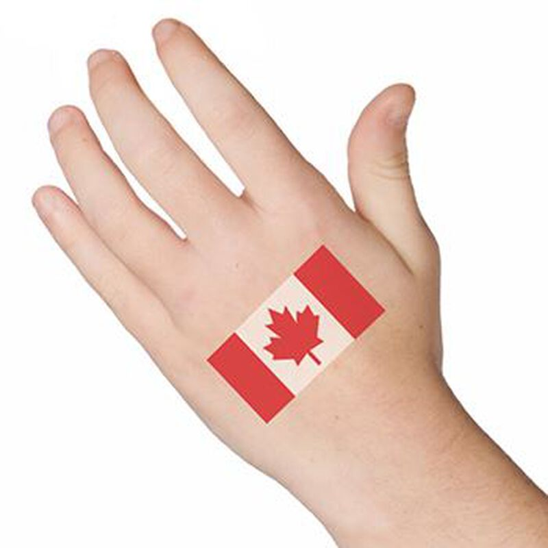 Canadian Flag Temporary Tattoo image number null