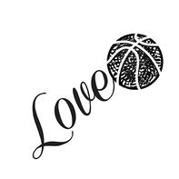 Love Basketball Temporary Tattoo