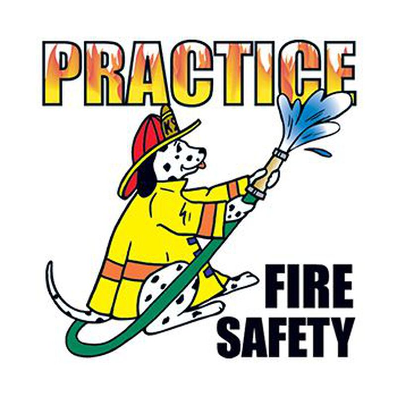 Practice Fire Safety Temporary Tattoo image number null