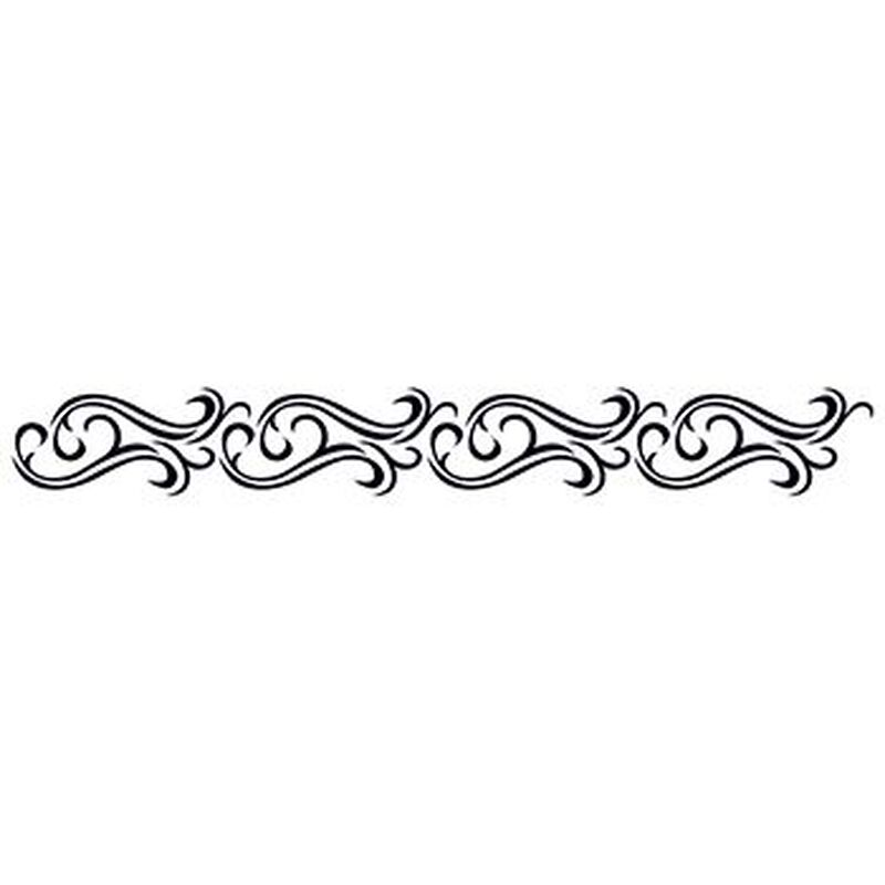 Tribal Waves Armband Temporary Tattoo image number null
