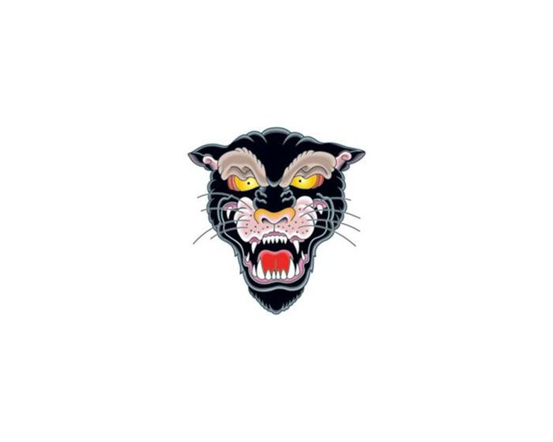 Vintage Panther Temporary Tattoo image number null