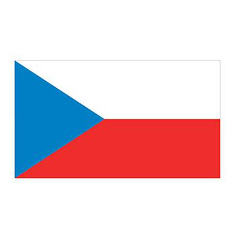 Czech Republic Flag Temporary Tattoo image number null