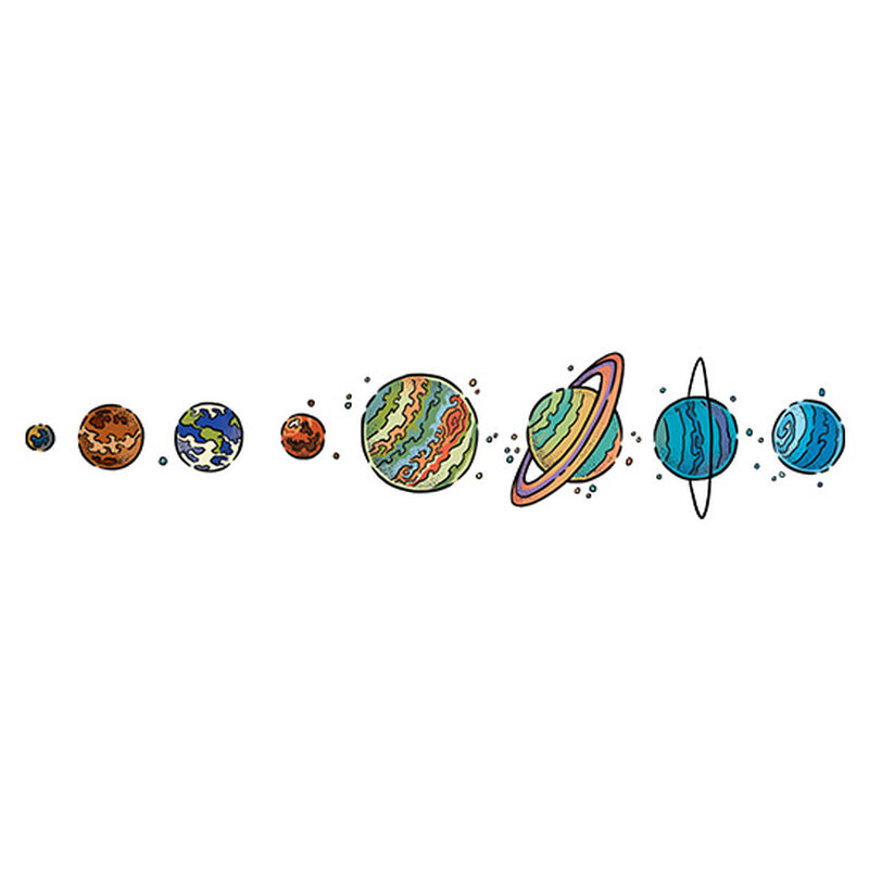 Colorful Planets Temporary Tattoo image number null