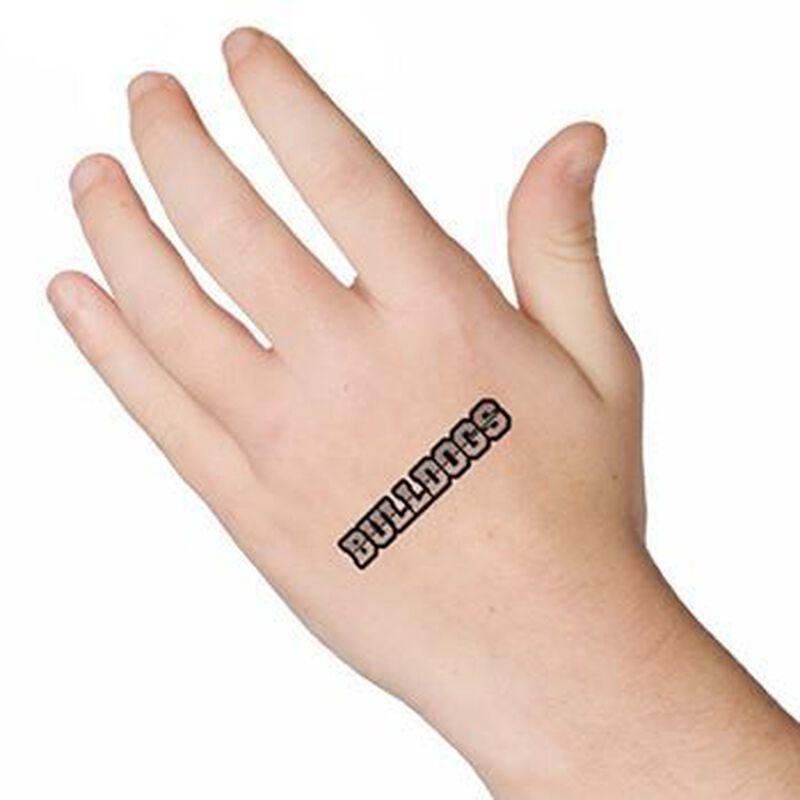 Bulldogs Text Temporary Tattoo image number null