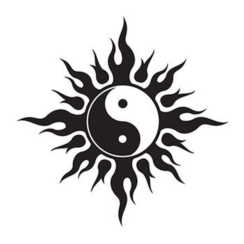 Tribal Yin Yang Temporary Tattoo image number null