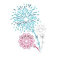 Shooting Fireworks Temporary Tattoo (Small)