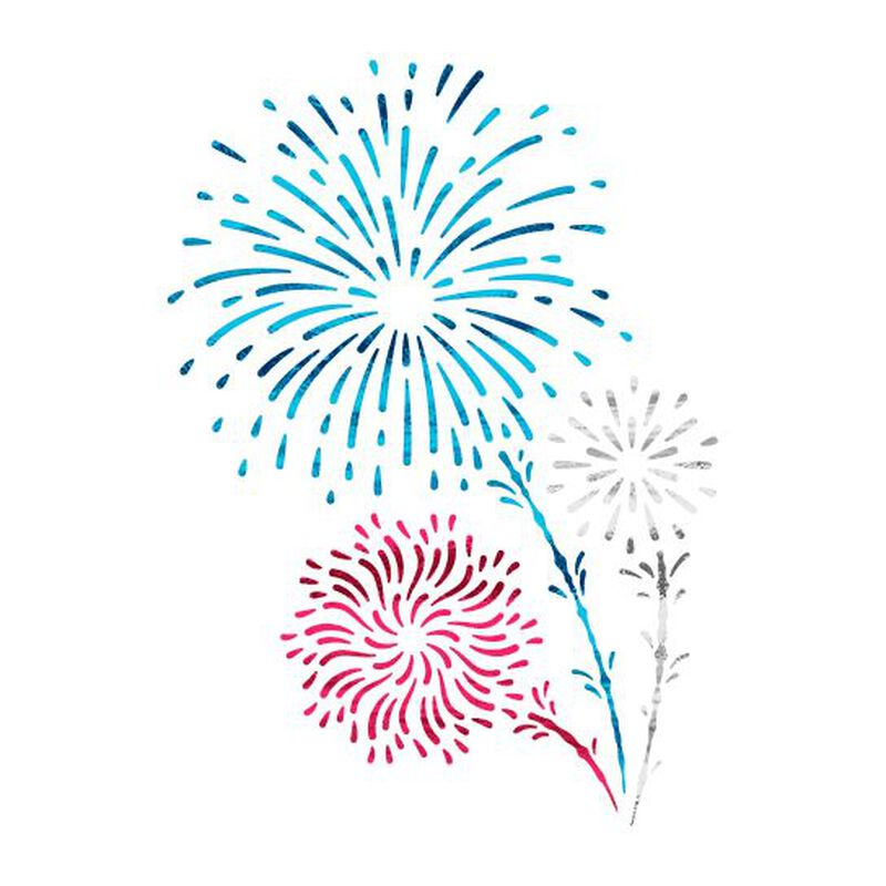 Shooting Fireworks Temporary Tattoo (Small) image number null