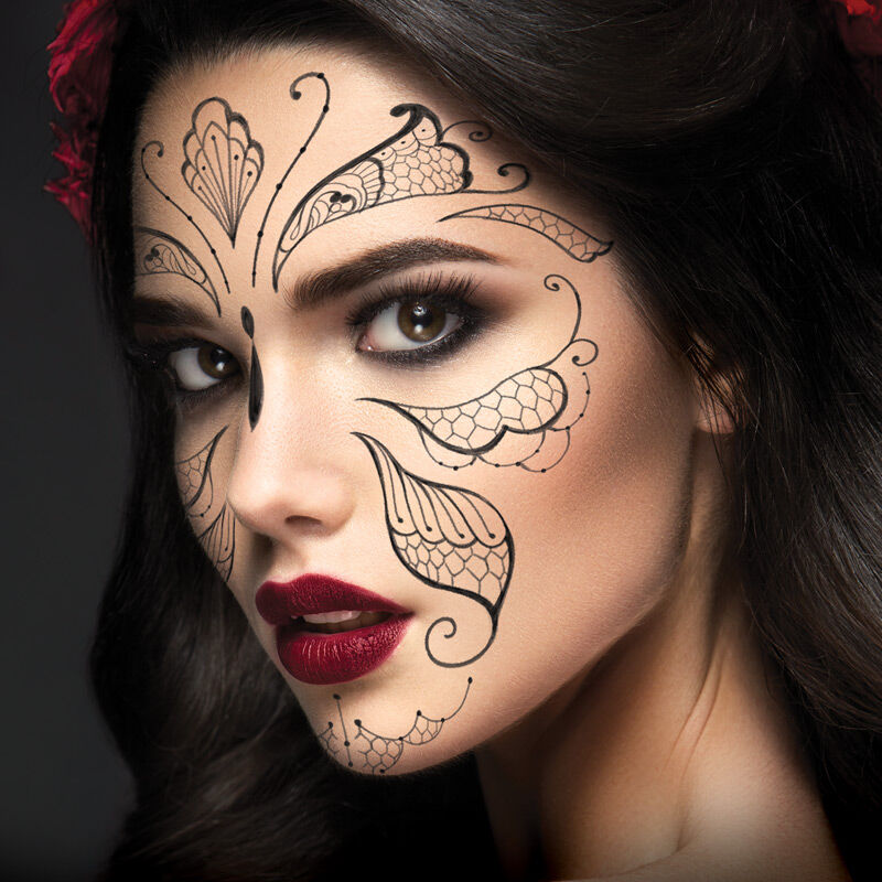 Lace Butterfly Costume Tattoo image number null