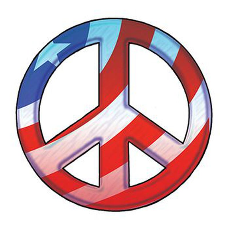 Patriotic Peace Symbol Temporary Tattoo image number null