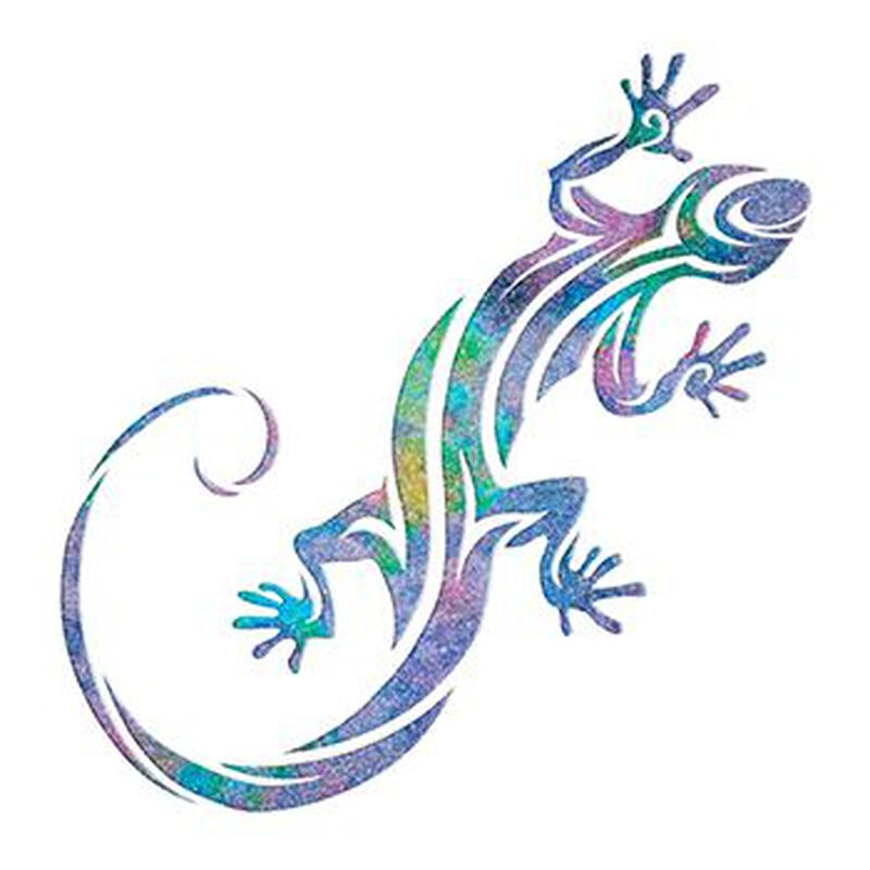 Glitter Gecko Temporary Tattoo image number null