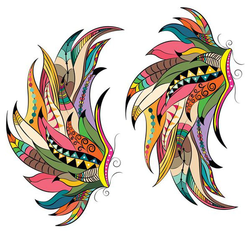 Boho Wings Temporary Tattoo image number null
