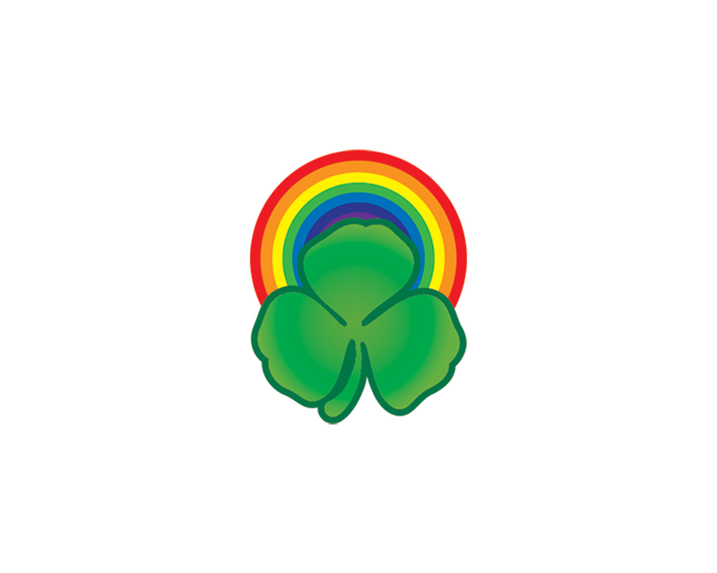 Rainbow and Shamrock Temporary Tattoo image number null