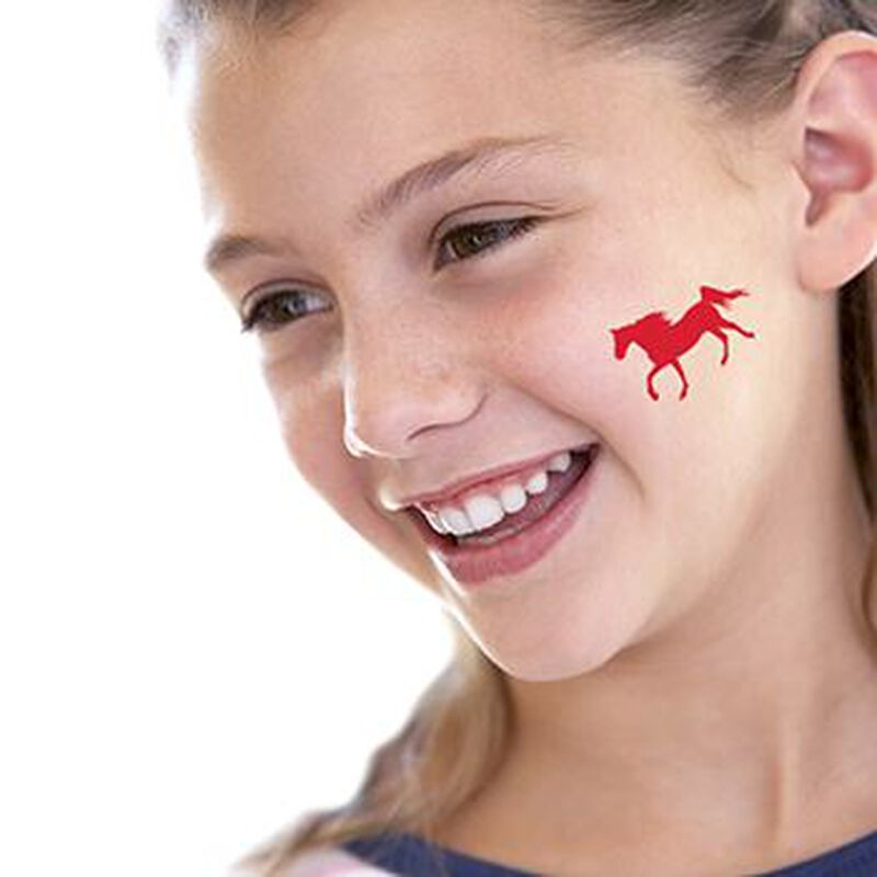 Red Horse Temporary Tattoo image number null