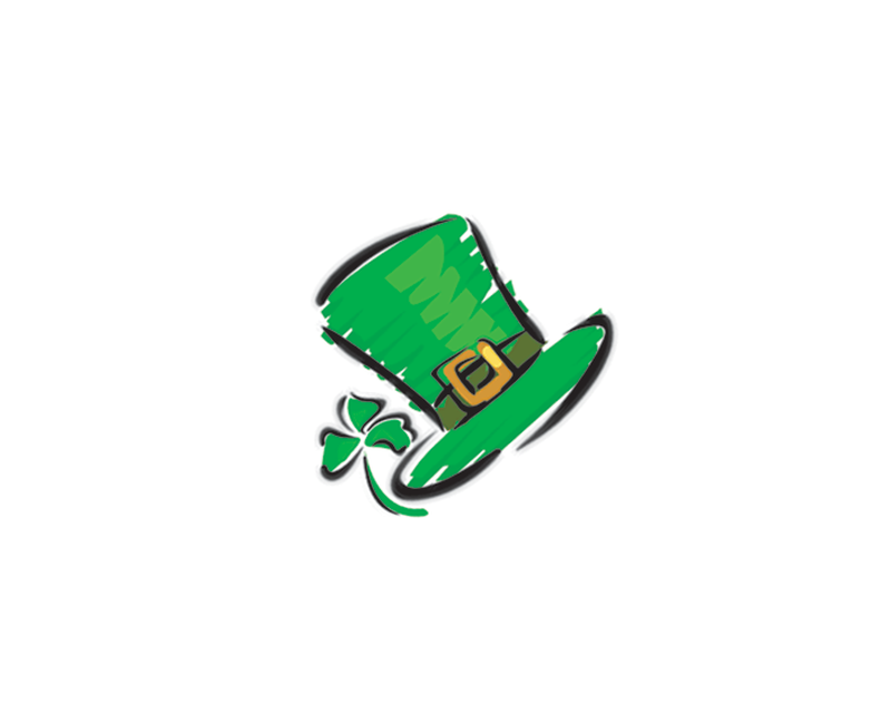 Leprechaun Hat Sketch Temporary Tattoo image number null