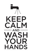 Keep Calm and Wash Your Hands Temporary Tattoo