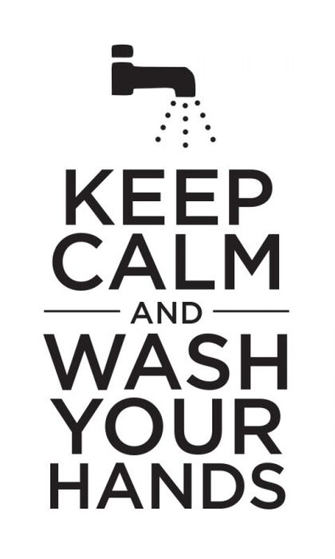 Keep Calm and Wash Your Hands Temporary Tattoo image number null