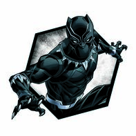 Avengers Black Panther Badge Temporary Tattoo