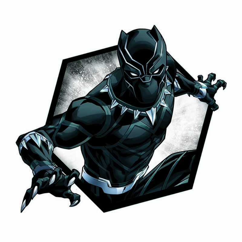 Avengers Black Panther Badge Temporary Tattoo image number null